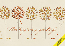 Bronze Row Thanksgiving Cards